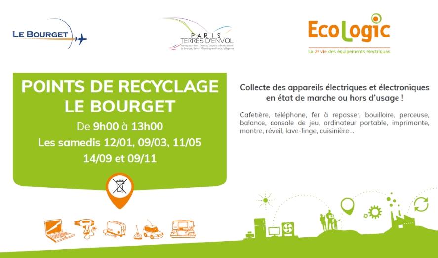Un point de recyclage pour les déchets d'appareils électriques et électroniques