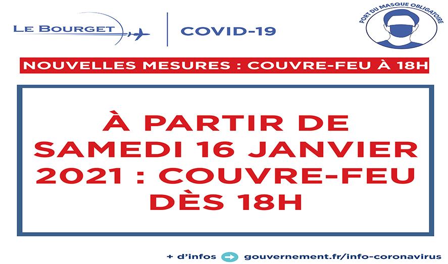 COVID-19: Nouvelles mesures: couvre-feu à 18h