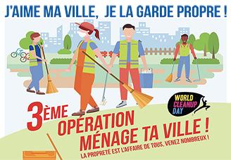 DIMANCHE 18 OCTOBRE: Opération ménage ta ville