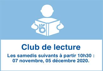 Samedi 7 novembre 2020 - Club de lecture