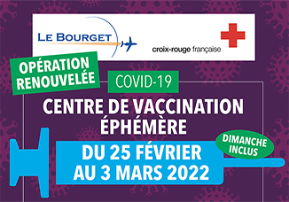 Covid-19: Ouverture d'un Centre de vaccination éphémère au Bourget