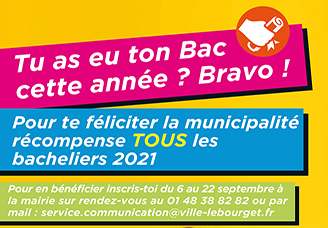 La ville récompense les Bacheliers 2021!
